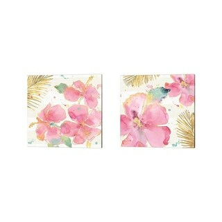 Anne Tavoletti 'Flamingo Fever' Canvas Art (Set of 2)