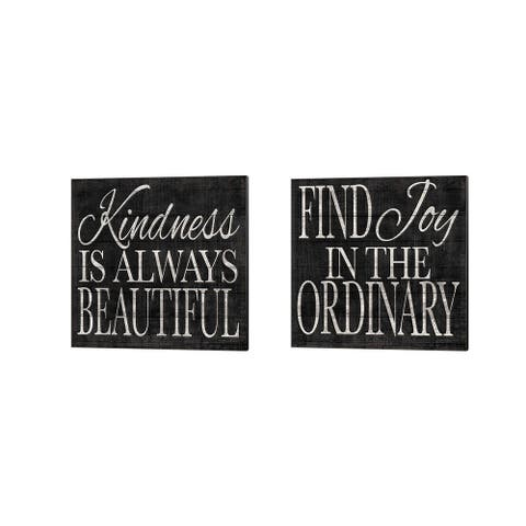 Jen Killeen 'Kindness and Joy Signs' Canvas Art (Set of 2)