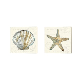 Anne Tavoletti 'Coastal Breeze B' Canvas Art (Set of 2)