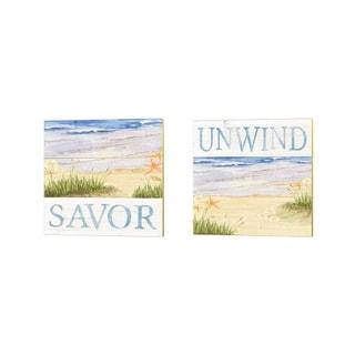 Tara Reed 'Savor the Sea' Canvas Art (Set of 2)