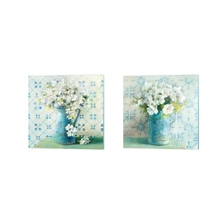 Danhui Nai 'May Blossoms Crop' Canvas Art (Set of 2)