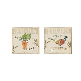 Anne Tavoletti 'Farmers Feast A' Canvas Art (Set of 2)