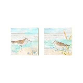 Cynthia Coulter 'Sandpiper Beach' Canvas Art (Set of 2)