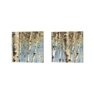 Lisa Audit 'White Forest' Canvas Art (Set of 2)