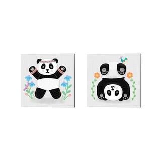 Noonday Design 'Tumbling Pandas' Canvas Art (Set of 2)