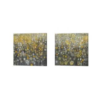 Danhui Nai 'Rain AbstractI' Canvas Art (Set of 2)