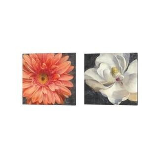 Danhui Nai 'Vivid Floral Crop' Canvas Art (Set of 2)
