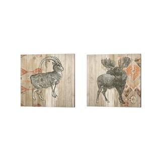Wild Apple Portfolio 'Natural History Lodge Southwest B' Canvas Art (Set of 2)