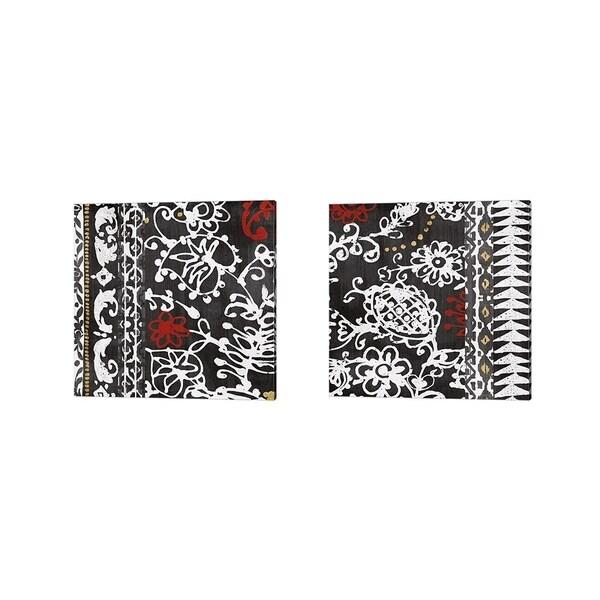 Wild Apple Portfolio 'Bali Tapestry BW' Canvas Art (Set of 2)