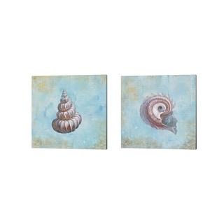 Danhui Nai 'Treasures from the Sea Watercolor' Canvas Art (Set of 2)