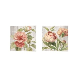 Danhui Nai 'Scented Cottage Florals Crop' Canvas Art (Set of 2)