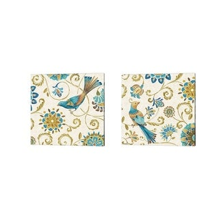 Daphne Brissonnet 'Love Tales C' Canvas Art (Set of 2)