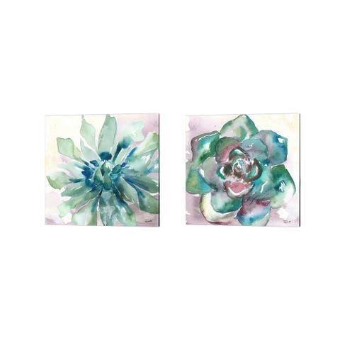 Porch & Den Kamm Succulent Watercolor' Canvas Art (Set of 2)