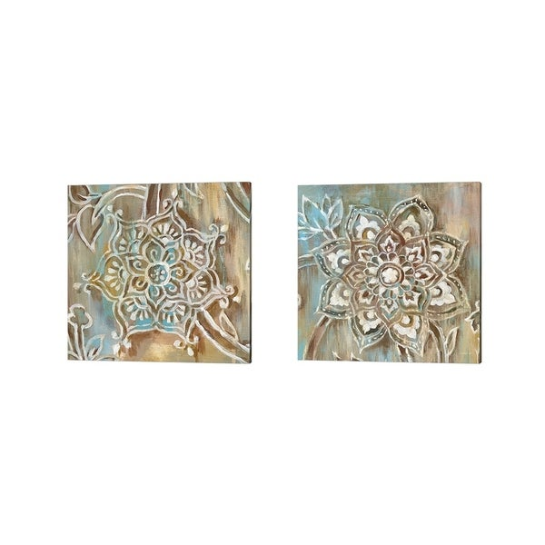 Danhui Nai 'Henna Blue' Canvas Art (Set of 2)