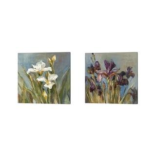 Danhui Nai 'Spring Iris' Canvas Art (Set of 2)