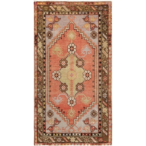 Pasargad Turkish Vintage Anatolian Hand-Knotted Wool Rug - 3' x 5'