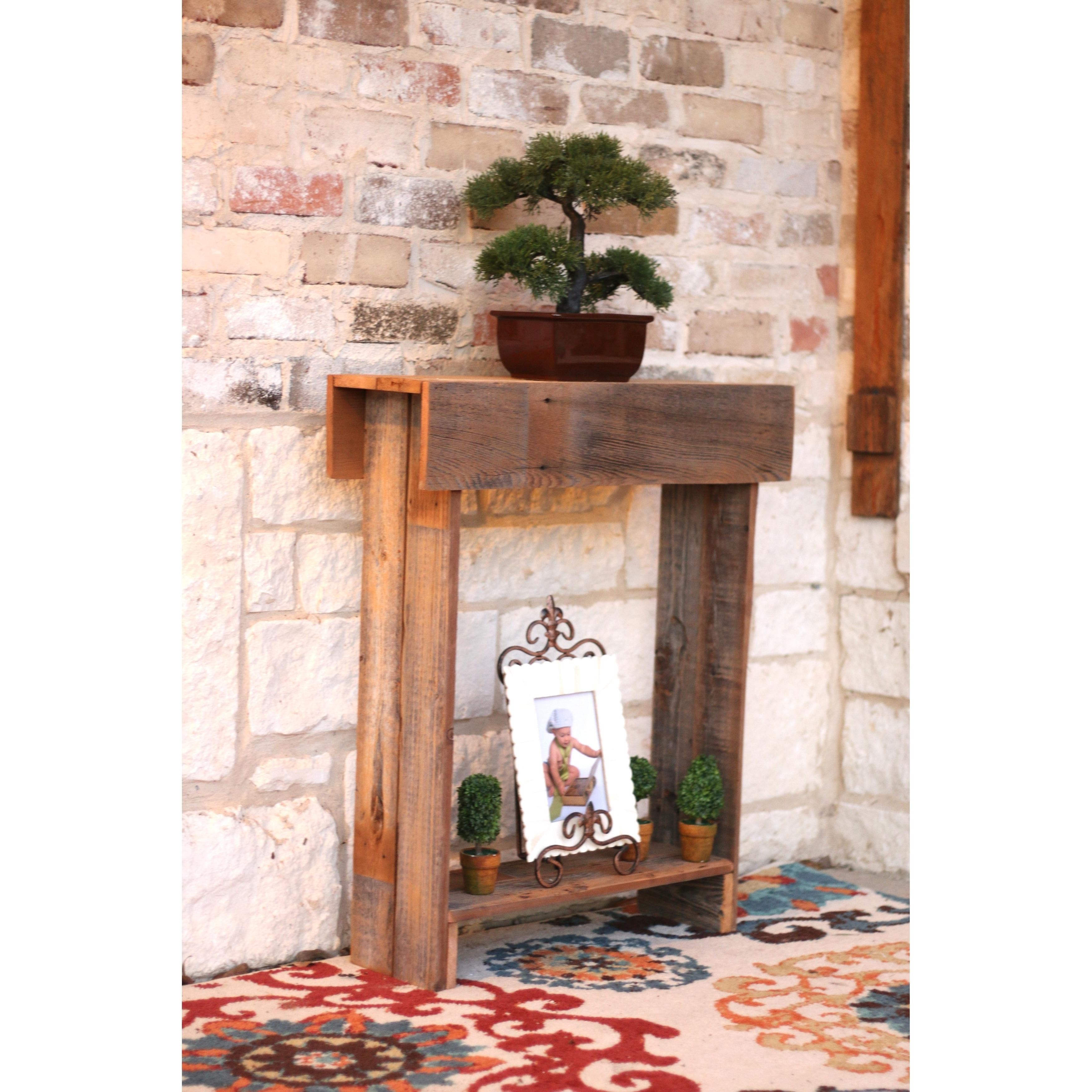 Rustic Skinny Reclaimed Wood Wall Table