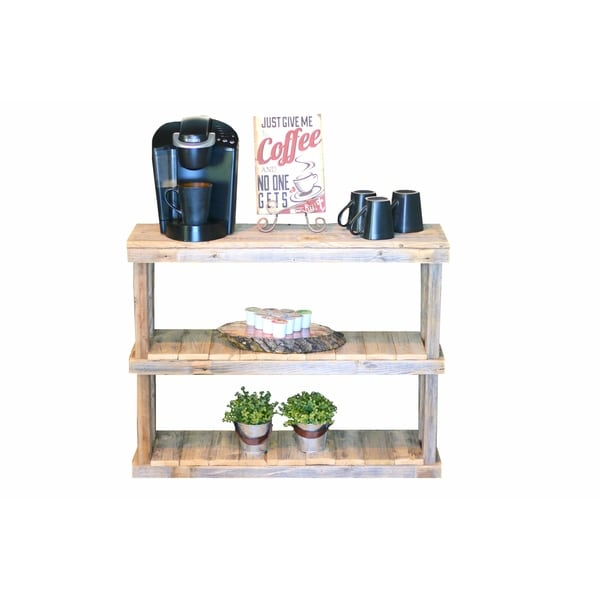 Natural Reclaimed Wood 3-tier Console
