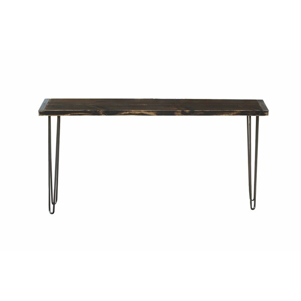 Stained Reclaimed Wood Industrial Console Table