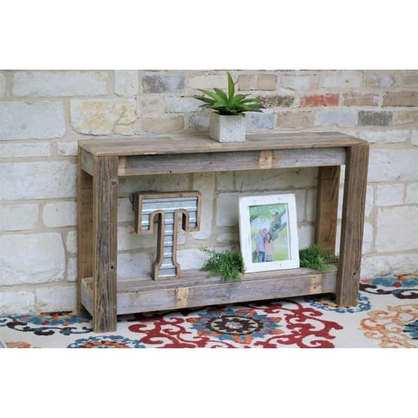 Distressed Off White Console Table
