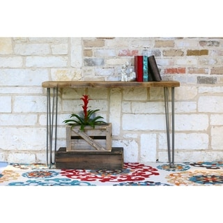 Reclaimed Wood 46-inch Industrial Console Table