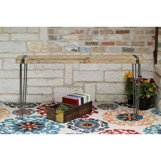 Natural Vintage Reclaimed Wood/Metal 60-inch Console