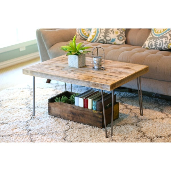 Shop Industrial Reclaimed Wood Coffee Table On Sale Free
