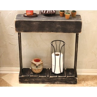 Black Slatted Skinny Console Table