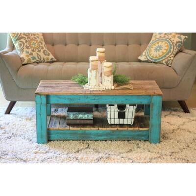 Buy Blue Rustic Coffee Tables Online At Overstock Our Best
