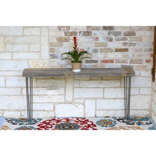 Industrial Model 209 Distressed-finish Reclaimed Wood Natural Console Table