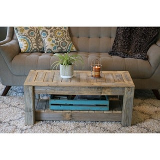 Versatile Brown Wood Coffee Table Entry Bench