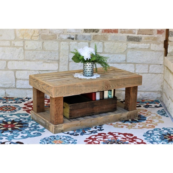 Natural Lodge Reclaimed Wood Coffee Table
