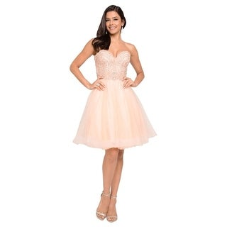Terani Couture Sweetheart Neck Beaded Bodice Short Ball Gown
