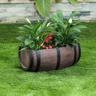 Half-Barrel MgO Planter