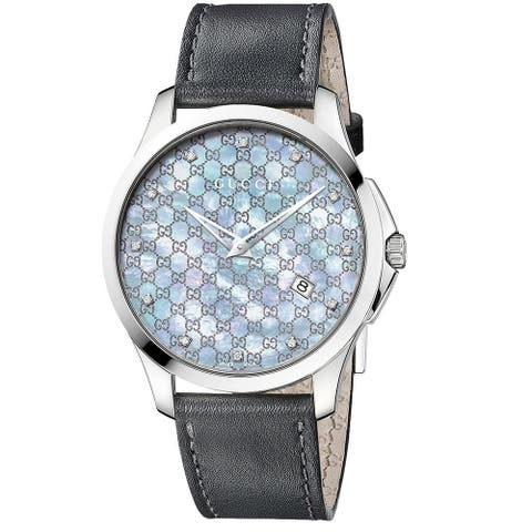 Gucci YA126307 Women's G-Timeless Grey Quartz Watch