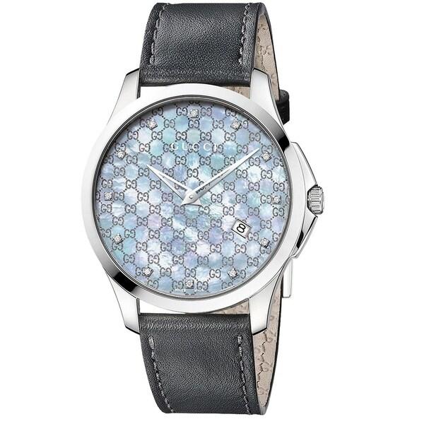 d7d9d0f95df Shop Gucci YA126307 Women s G-Timeless Grey Quartz Watch - Free ...