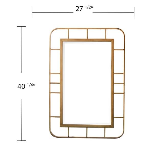 SEI Furniture Ham Decorative Rectangular Wall Mirror - Gold