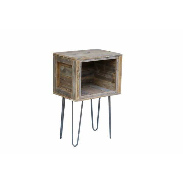 Brown Wood Cubby Table
