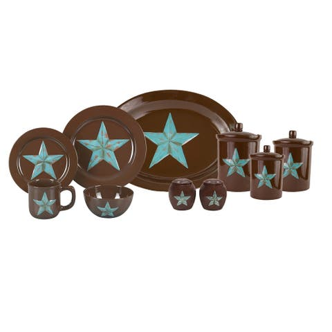 HiEnd Accents Star 22 Piece Dinnerware and Accessory Set