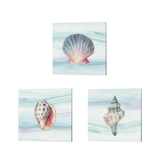Lisa Audit 'Ocean Dream no Filigree' Canvas Art (Set of 3)