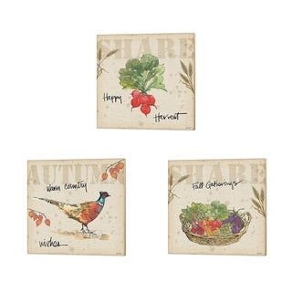 Anne Tavoletti 'Farmers Feast Harvest B' Canvas Art (Set of 3)