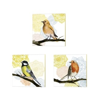 Grace Popp 'Mandala Bird' Canvas Art (Set of 3)