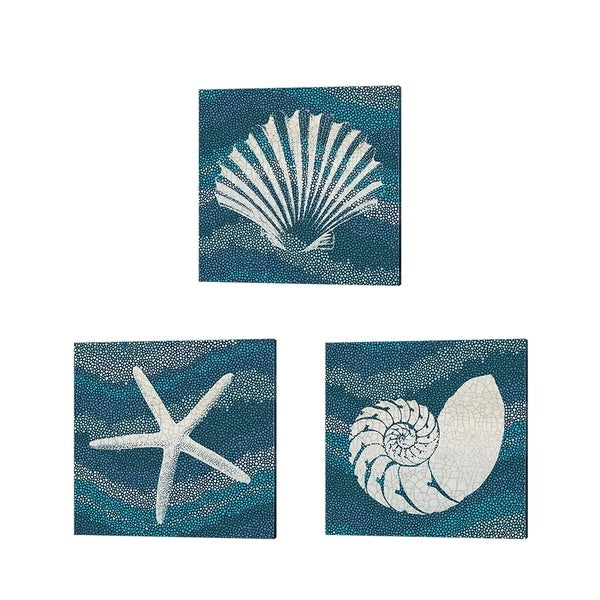 Wild Apple Portfolio 'Sea Glass' Canvas Art (Set of 3)