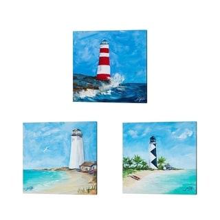 Julie DeRice 'The Lighthouses' Canvas Art (Set of 3)