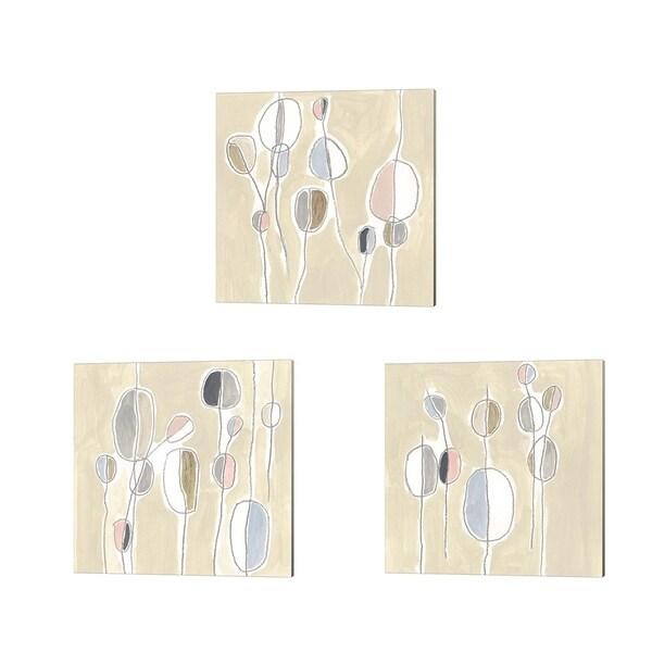 June Erica Vess 'String Garden' Canvas Art (Set of 3)