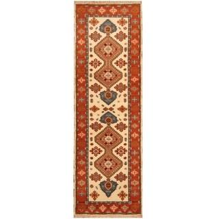 Handmade Kazak Wool Rug (India) - 2'9 x 8'2