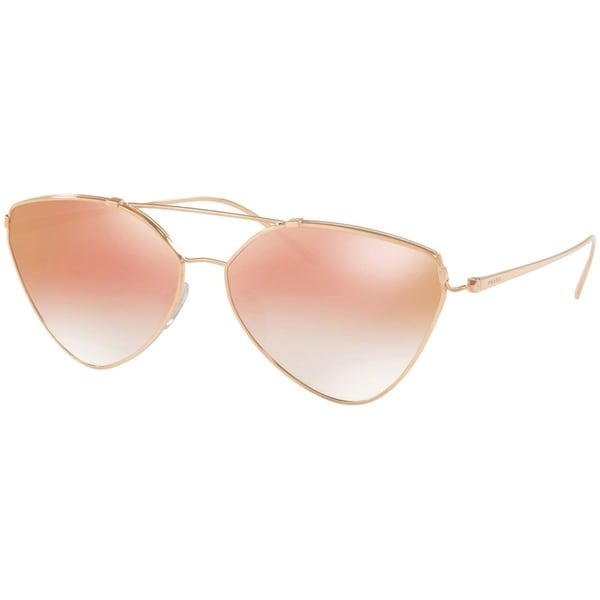 6d1711a9803 Shop Prada PR51US Rose Gold Frame Pink Gradient Mirror 62mm Lens Sunglasses  - Free Shipping Today - Overstock - 25602941