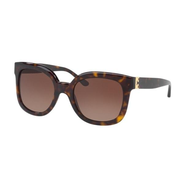 420ca840b461 Tory Burch TY7104 Dark Tortoise Frame Polarized Brown Gradient 54mm Lens  Sunglasses