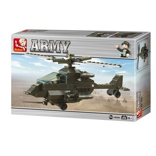 Sluban Land Forces Apachi Battle Helicopter (158 Pcs) B6200