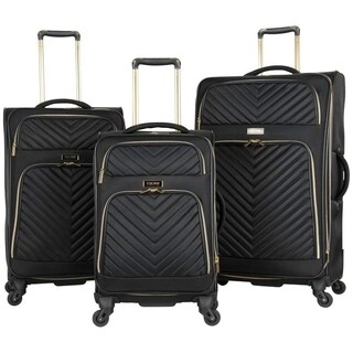 Kenneth Cole Reaction 'Chelsea' 3-Piece Chevron Quilted Expandable 4-Wheel Spinner Luggage Set (20in/24in/28in Set)